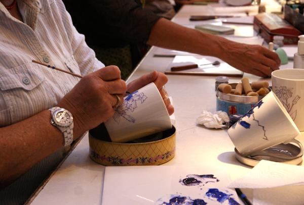 Stages atelier catherine bergoin d cor porcelaine for Decoration sur porcelaine